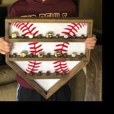 Baseball Ring Holder that will hold 23 rings.