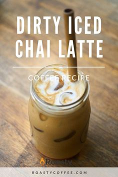 Dirty Iced Chai Latte: Who Said You Had to Choose a Side? - Dirty Iced Chai Latte: Who Said You Had to Choose a Side? Dirty ice chai latte coffee r - Coffee Drink Recipes, Tea Recipes, Iced Chai Latte Recipe, Ninja Coffee Bar Recipes, Cold Coffee Drinks, Tea Drinks, Side Recipes, Beverages, Easy Coffee