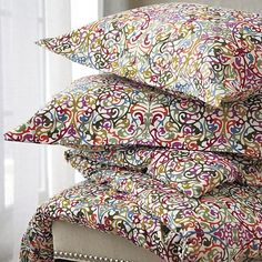 Lucia Bed Linens in Duvet Covers | Crate and Barrel  duvet from cougartown! need.