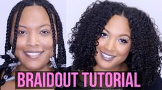 How To Get the PERFECT BRAIDOUT || Natural & Transitioning Hair