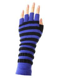 LL- Womens Warm Winter Arm Warmer Knit Fingerless Long Gloves 5 Half Fingers (Blue / Black Stripes) BSB http://www.amazon.com/dp/B01A7FHGJU/ref=cm_sw_r_pi_dp_XoqOwb1MYCV3A