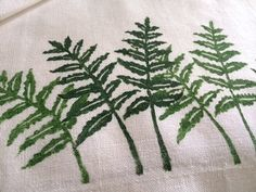 how to print overlapping shapes on fabric. #fabric_stamping | Bottle Branch blog