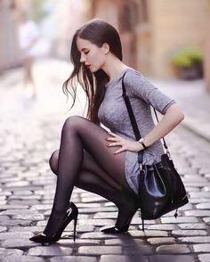 Who misses black pantyhose & heels? Pantyhose Heels, Black Pantyhose, Nylons, Great Legs, Beautiful Legs, Sexy Women, Femmes Les Plus Sexy, Sexy Stockings, Sensual