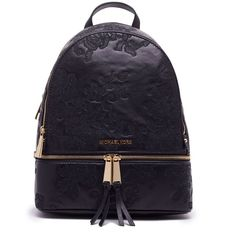 36e4c5179696 Rhea Backpack ($287) ❤ liked on Polyvore featuring bags, backpacks,  womenbagsbackpacks, daypack bag, michael kors, michael kors backpack, gold  bag and ...