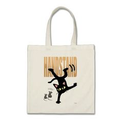 Cool and cute #Cat HANDSTAND Tote Bag by BATKEI #LoveCats #CatLady #CatLadyGift