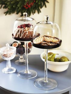 Show-off your holiday treats in style. The AKTAD cake stand is a perfect way to display bread, cheese, fruit and dessert.