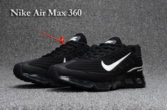 8693df4b3bf72f Nike AIR MAX 360 KPU Women Men Black White 36-47