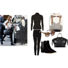 Dakota Johnson out in LA by msrazersharp on Polyvore featuring Mara Hoffman, Topshop, Tabitha Simmons, Thierry Lasry and Alexander McQueen