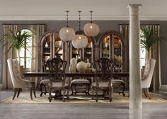 Rhapsody dining table - would love a huge long table like this for entertaining!