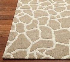 Giraffe print rug for jungle / safari / zoo / African animals themed nursery or toddler room