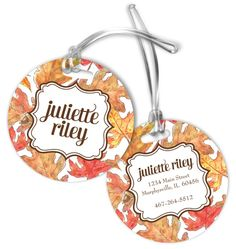 Crisp Leaves Luggage Tags