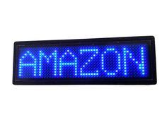 Programmable Scrolling MSD LED Name Badge (12x48 pixels) Blue