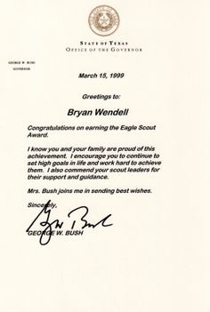How to request congratulatory letters for your Eagle Scout   Bryan on Scouting