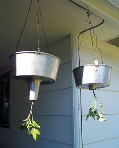 bundt cake pans used for hanging tomato planters