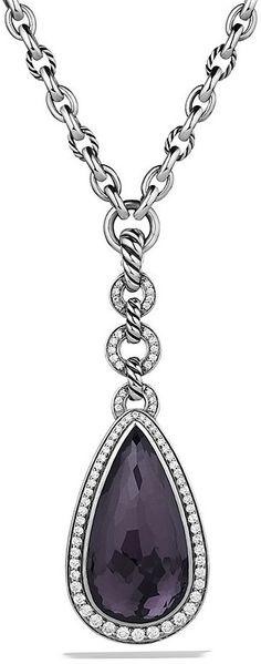 David Yurman Anjou Necklace with Hematine & Diamonds on shopstyle.com
