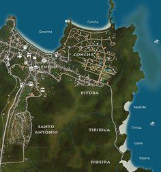 Mapa Itacaré