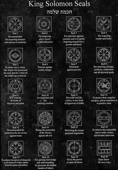 How the Seals of Solomon have become part of kabbalistic magic (Kabbalah - Jewish mysticism), alchemy and also valued by the occult in other forms of medieval and even Eastern magick, is not yet clear and is a matter of historical, archaeological and spir Magic Symbols, Symbols And Meanings, Ancient Symbols, King Solomon Seals, Solomons Seal, Freemasonry, Book Of Shadows, Sacred Geometry, Alchemy