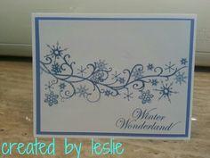 CTMH Snowflake Christmas card