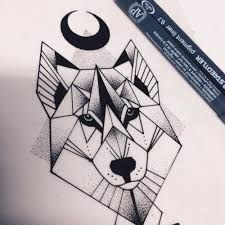 Znalezione obrazy dla zapytania geometric wolf illustration