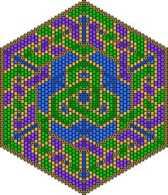 lover's knot beadwork pattern - also tutorial for laying out mandala-type patterns
