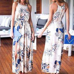 Sexy Strapless Sling Print Dress