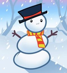snowman drawing tutorial for kids