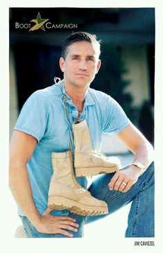 Jim Caviezel if he saleing those boots I will buy them just because