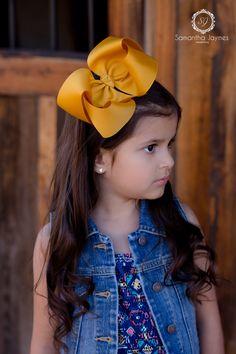 Handmade Girls lemon Sweet Heart Double Hair Bow Bobbles  In Pairs SALE