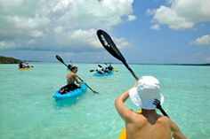 Neptune Villas offers Chalk Sound National Park kayaking, canoeing, paddle boats and confortable sunset cruises with our pontoon boat. To reserve water equipment or the pontoon boat please call Double Kayak, Kayak Paddle, Pontoon Boat, Turks And Caicos, Kayaking, Caribbean, Boats, National Parks, Kayaks