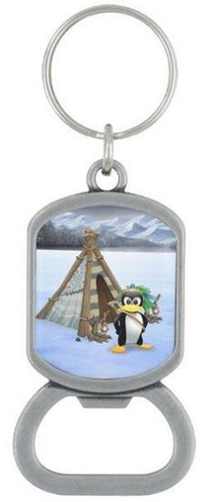 Penguin American Indian cartoon
