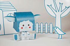 Coloretes - Paper Toy by Anna Raga, via Behance