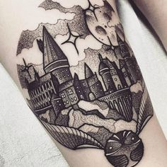 Hogwarts may not be as real as we'd like, but this tattoo is pretty damn close. This tattoo from shawntriple6 might be the most magical piece of HP memorabilia we've come across.