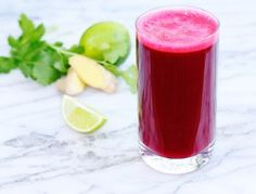 This juice is naturally sweet from the carrot, beet and orange. Adjust the amount of ginger to suit your tastes—add more if you like it hot, and less if you prefer it as more of an accent.  on goop.com. http://goop.com/recipes/beet-down/