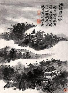 清代 - 石濤 -《怕聽鳳城鐘圖》 Painted by the Qing Dynasty artist Shi Tao 石濤. View paintings, artworks and galleries at Chinese Art Museum.
