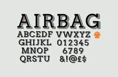 Free fonts Airbag