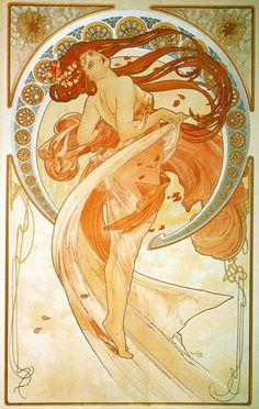 The Arts, Dance by Alphonse Mucha