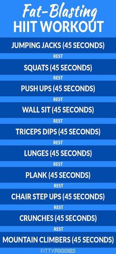 10 Minute Fat Burning HIIT Workout - FittyFoodies