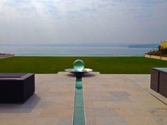 My 'Overcliffe' Project - a sphere water fountain sitting above a cliff. A really spectacular view, too!