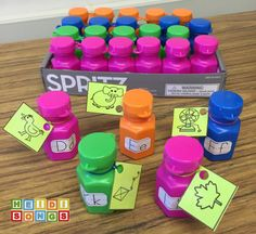 HeidiSongs: Mini Bubble Bottle Beginning Sounds Center