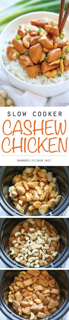 Cashew Chicken - A Chinese takeout favorite made right in your crockpot.