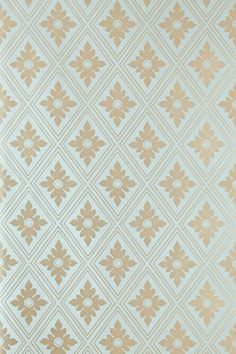 A stunning adaptation of an elegant neoclassical wallpaper design, featuring an architectural diamond trellis border with a delicate foliate motif.  Full roll width is 53cm/21