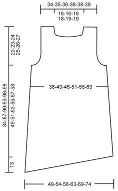 Tunique DROPS, bordure arrondie en «Lin». Du S au XXXL. ~ DROPS Design                                                                                                                                                                                 Plus