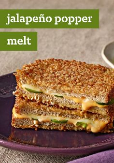 Jalapeño Popper Melt - How do you make jalapeño poppers even better? Make them into a sandwich! Jalapeño cheddar adds spice, while crushed pretzels add crunch!
