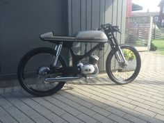 Crescent 1209-74 café racer.  Home made seat and modified Suzuki k50 tank.