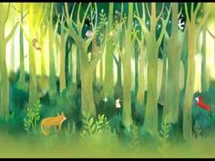 From Dreamywall: Forest Fantasy Nursery Wallpaper Baby Room Wall Decal Art Bedroom Children Animal Tree Fox Tree Wall Mural Fairy Tale Green Nature Baby Room Wall Decals, Nursery Wall Murals, Tree Wall Murals, Nursery Wallpaper, Wood Wallpaper, Mural Art, Pattern Wallpaper, Wallpaper Borders, Nursery Room