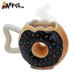 Coffee and donuts, what more could you want.besides real donuts. Coffee And Donuts, Coffee Cups, Coffee Coffee, Coffee Time, Tea Time, Fancy Donuts, Donut Gifts, Donut Shape, Creative Coffee