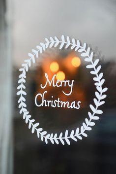 Autocollant de fenêtre de Noël par yvestown sur Etsy