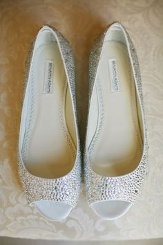 wedding shoes - sparkly wedding flats
