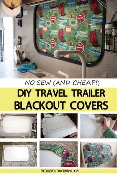 How to DIY RV BlackOut Window Covers for Your RV or Camper (NO SEWING Involved!) DIY your own custom blackout window covers for your travel trailer so that your family can finally take that relaxing darkened afternoon nap in the camper! Camping Diy, Travel Trailer Camping, Family Camping, Camping Ideas, Travel Trailers, Camping Essentials, Camping Stuff, Camping Crafts, Camping Guide
