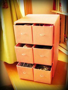 Újrahasznosítás: fiókos szekrény cipősdobozból - Színes Ötletek Blog